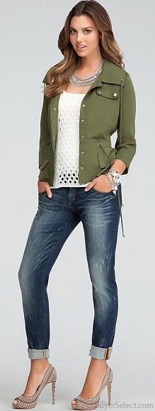 Bebe, Casual Date Night. Love the jacket.