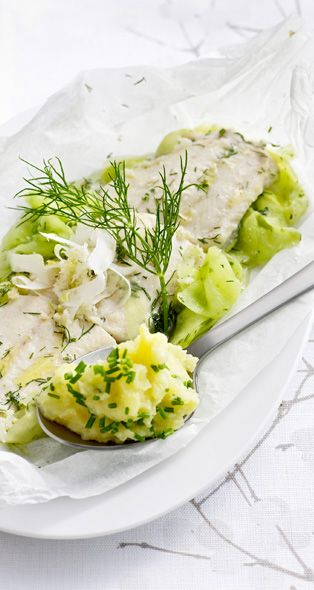 Poached Trout with Mustard Mash