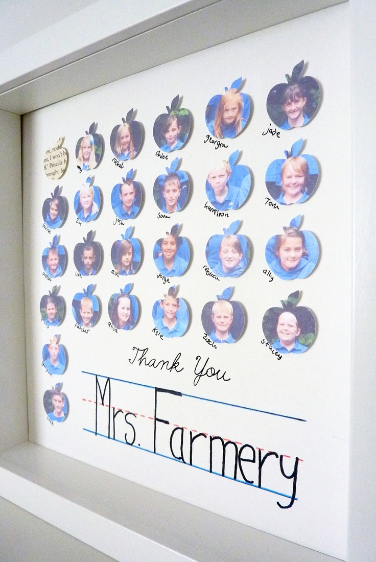 Thank You Teacher Gift Appreciation Apples - Class Keepsake FRAMED. $53.00 USD, via Etsy.