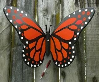 Monarch butterfly, Kiwiana (LARGE size) for your garden fence. Hand-made with love.