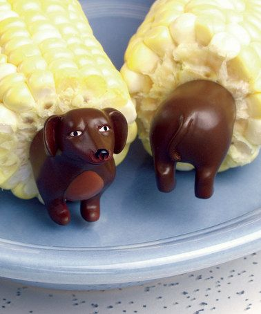 Take a look at this Charcoal Companion Dog Corn Holder - Set of Eight by Just For Dad Boutique on #zulily today!