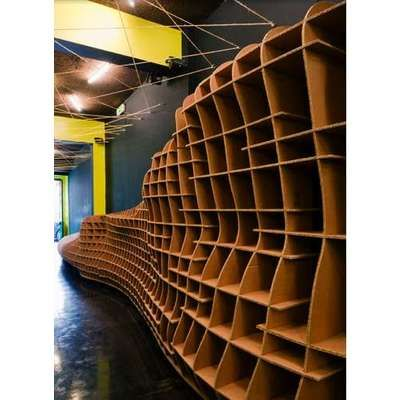 Cardboard bookshelf by Cardboard Furniture by Giles Miller $0