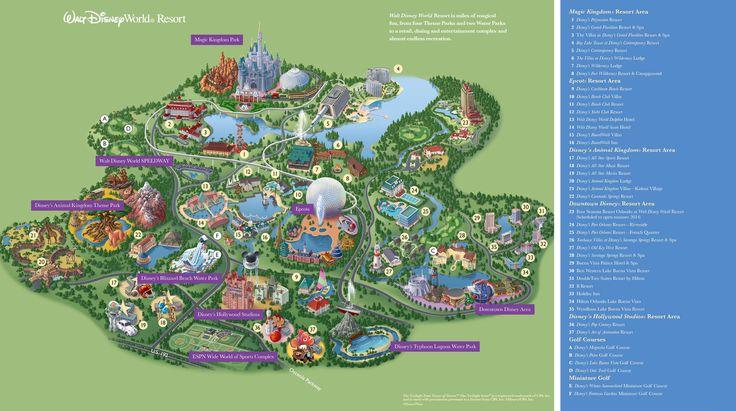 Walt Disney World Maps Parks and Resorts Disney, Epcot