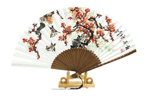 Traditional Folding Fan - Maehwa