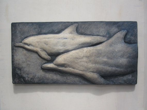 Swimming Dolphins Wallsculpture by SculptureGeek on Etsy, $49.95