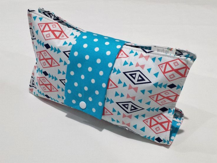 Ready to Post Handmade Nappy Wallet - Babyshower Gift - Aztec on White by MattynMe on Etsy