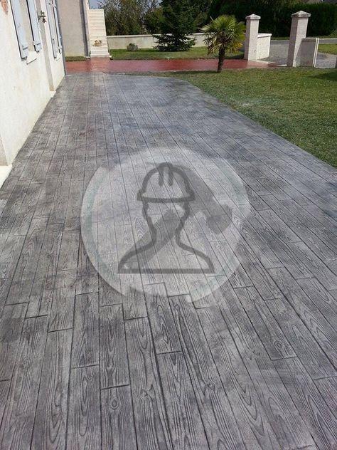 Beton imprime imitation bois, imitation parquet #parquet #betonimprime #bois