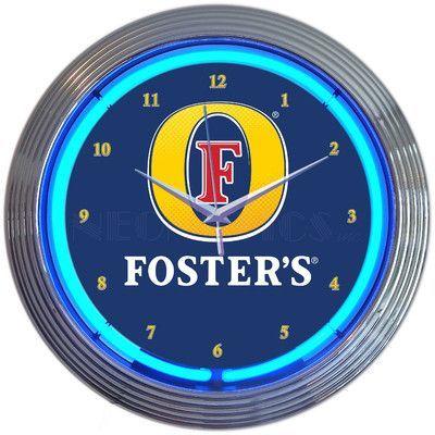 """Neonetics 15"""" Fosters Beer Neon Clock"""