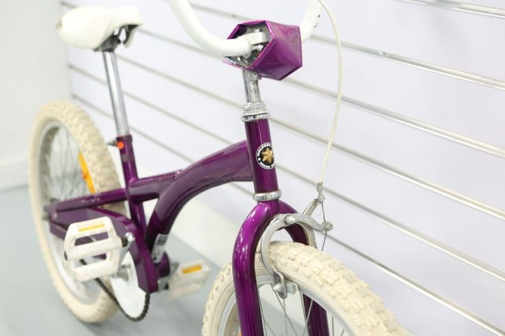 If you wish to cut your budget to buying a kids bike, this used 20 inch Malvern Star in purple colour might be the right one for you. Reasonable condition, could use a new seat. All works well but a little plain looking.