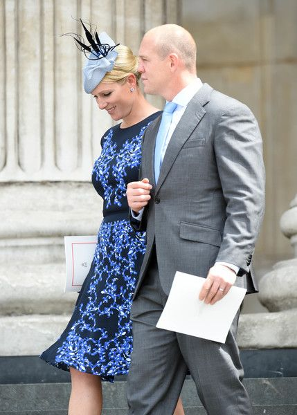Zara Phillips Photos - Zara Phillips and Mike Tindall attend a National Service of Thanksgiving as part of the 90th birthday celebrations for The Queen at St Paul's Cathedral on June 10, 2016 in London, England. - National Service Of Thanksgiving To Celebrate The Queen's 90th Birthday