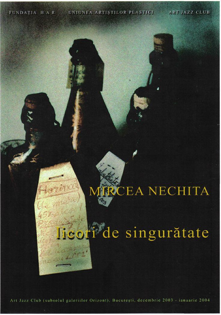 Afis expozitie ,,Licori de singuratate'' , 2003-2004
