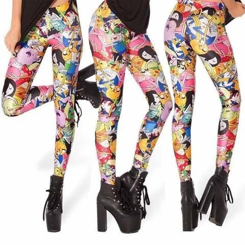 ADVENTURE TIME CARTOON LEGGINGS