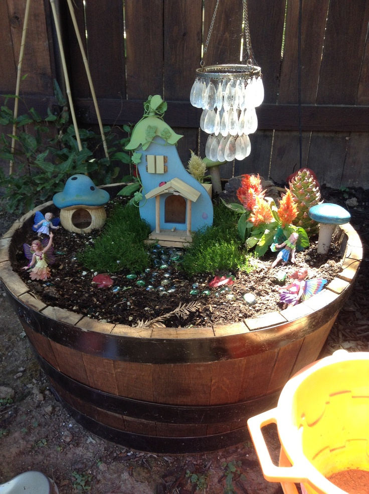 Fairy Garden Stepping Stones 38 best fairy garden images on pinterest fairies garden fairy this is a fairy garden i made with my daughter the chandelier has a solar workwithnaturefo