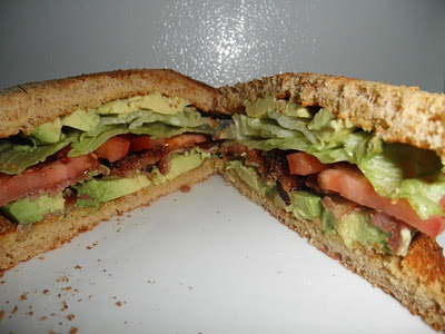 BLAT - bacon, lettuce, avocado, and tomato sandwich, yummi!