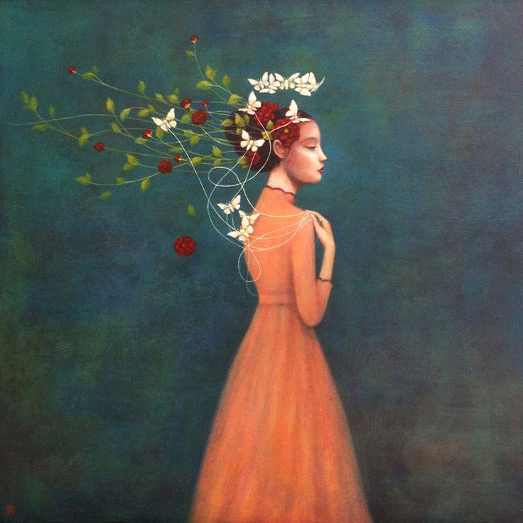 Vietnamese schilder Duy Huynh creëert in zijn schilderijen een sprookjesachtige wereld