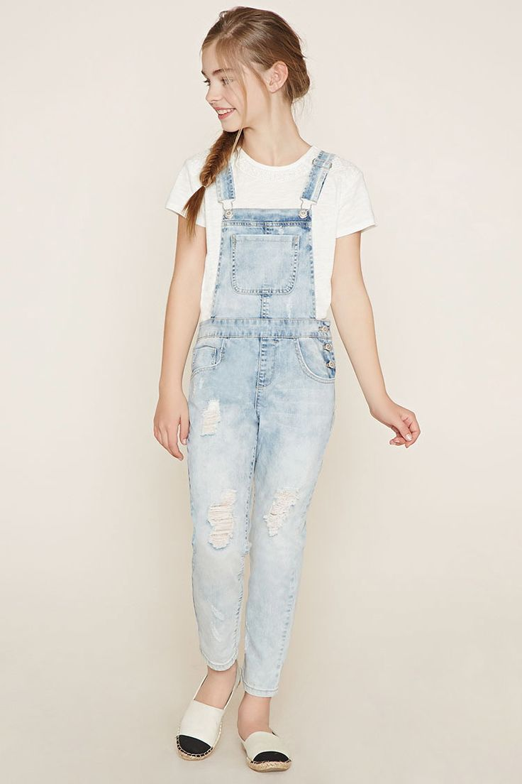 Girls Denim Overalls (Kids) | Forever 21 girls - 2000185794