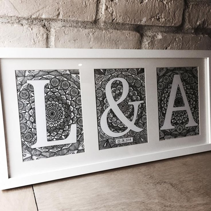 L & A  one more to do  #lettering #mandala #style #letters #homeinteriors #inspire_me_home_decor