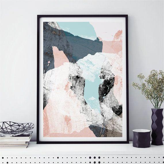 Abstract Wall Art Minimalist Prints Scandi Fine WOOD VALLEY