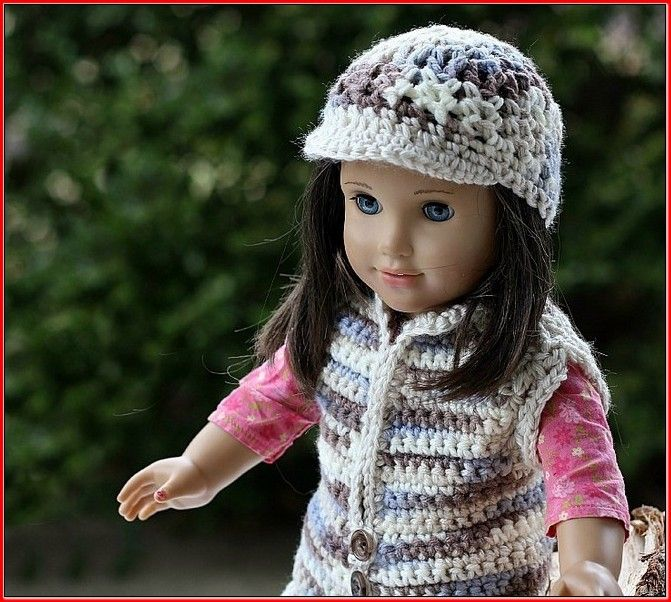 Crochet Hat Pattern American Girl Doll : 1637 best images about Crochet American Girl on Pinterest ...