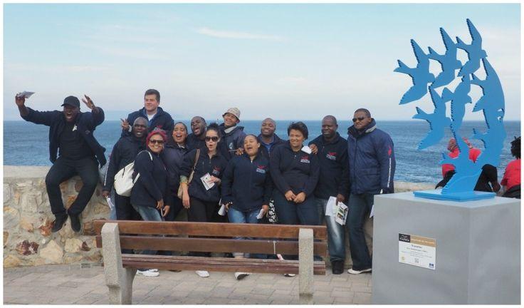 Marine Dynamics Crew visiting  Hermanus a day before Fynarts starts.