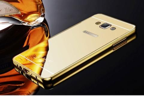 Mirror Aluminum+Acrylic Metal Cover For Samsung Galaxy A5 2016 G530 S4 S3 S5 Neo…