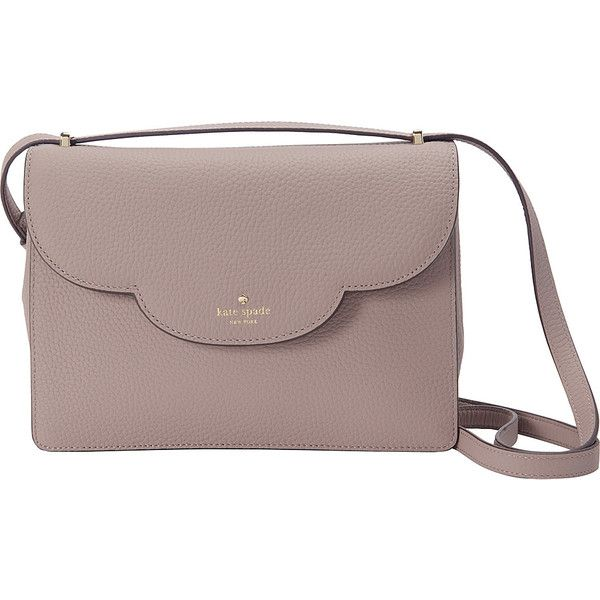 Kate Spade New York Leewood Place Nalia Crossbody ($328) ❤ liked on Polyvore featuring bags, handbags, shoulder bags, tan, brown shoulder bag, tan crossbody purse, kate spade, brown handbags and brown cross body purse