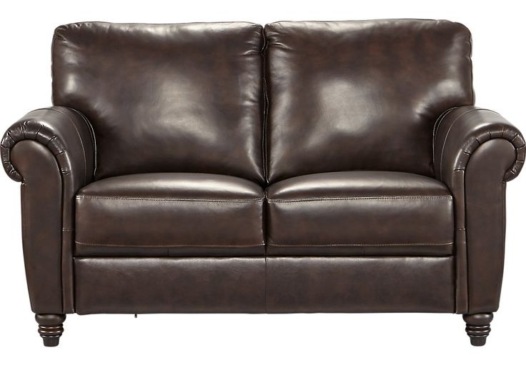Cindy Crawford Home Lusso Coffee Bean Leather Loveseat .879.99. 64W x 39D x 38H. Find affordable Leather Loveseats for your home that will complement the rest of your furniture.  #iSofa #roomstogo
