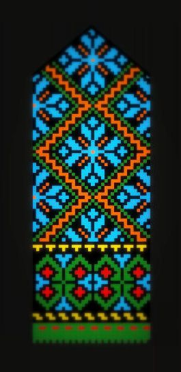 The Latvian Traditional Mittens Pattern from the Kurzeme region, 18th cent.