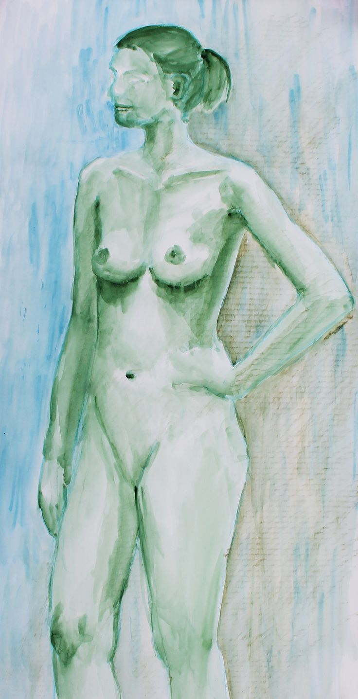 Woman, nude, akvarel, by KaVe