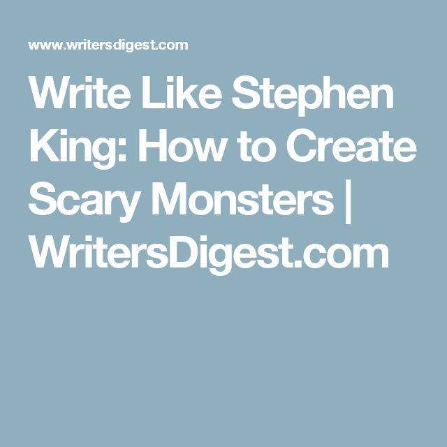 stephen king what scary essay Stephen king, a master of horror  my favorite writer: stephen king updated on february 19, 2018  some of them are dark, scary places filled with monsters,.