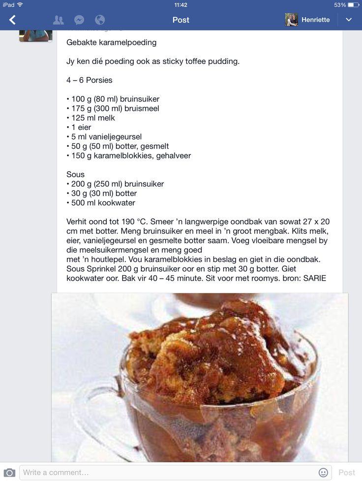 "Karamel Poeding ""sticky toffee pudding"""
