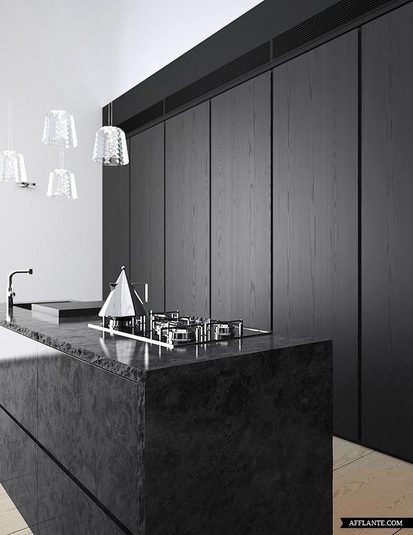 reforma cocina, estilo moderno, isla central para fregadero y zona de cocción de piedra natural, mueble empotrado como zona de almacenaje y electrodomésticos integrados, suelo de parquet