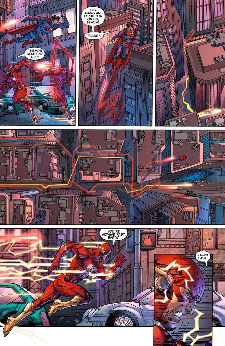 New 52 Flash vs Omega Beams
