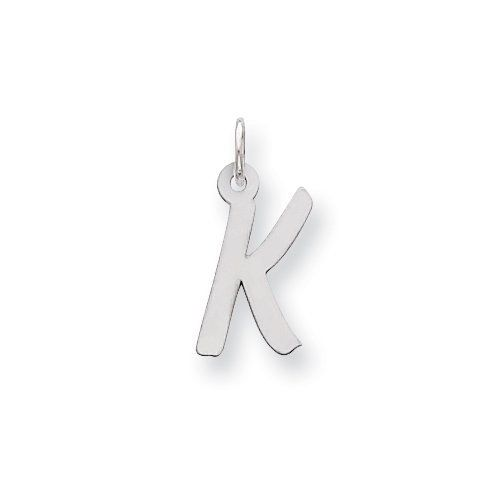 Sterling Silver Medium Initial K Charm Real Goldia Designer Perfect Jewelry Gift for Christmas goldia. $9.01