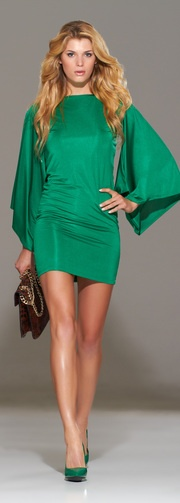 Fab color, fab sleeves & backless .   Love it all!