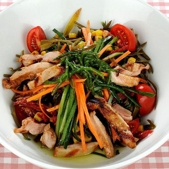 chicken and samphire salad @ Cafe Mese