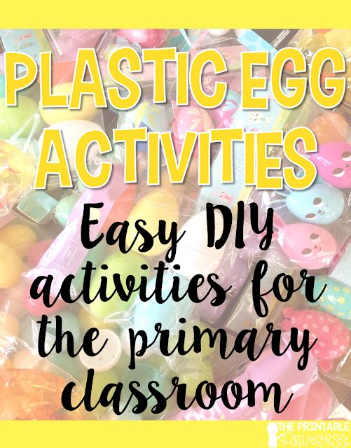 The Printable Princess: Easter Egg Literacy Activities for Kindergarten {F...