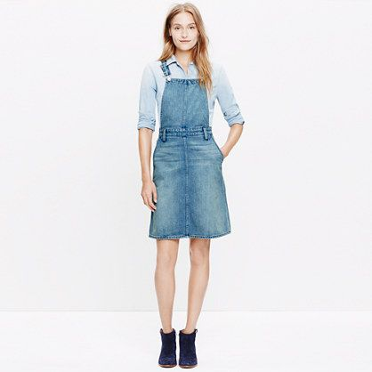 Madewell+-+Denim+Jumper+Dress