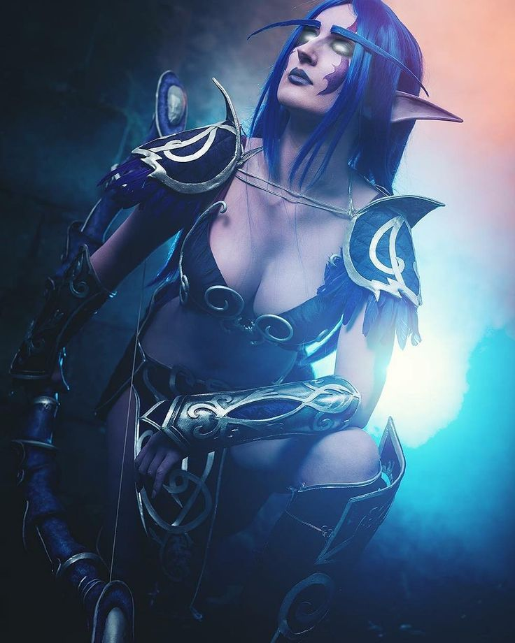 Night elf hunter cosplay by GrumpyCait