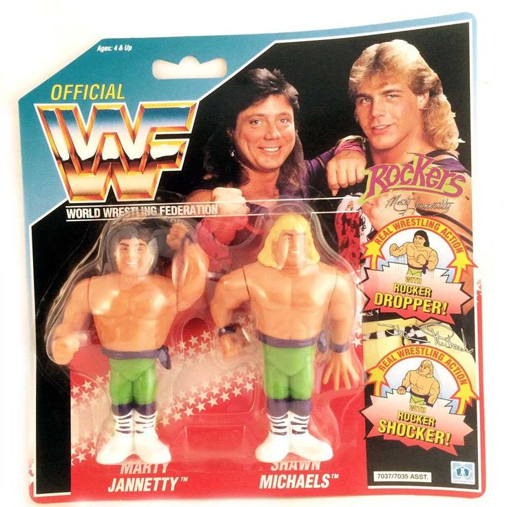 WWF - The Rockers - Marty Jannetty, Shawn Michaels     WWF www.detoyboys.nl