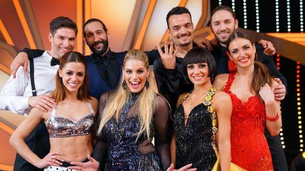 Diese vier Tanzpaare treten im 'Let's Dance'-Halbfinale gegeneinander an. (Quelle: RTL / Stefan Gregorowius)