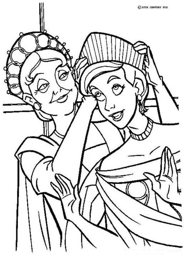 anastasia and marie coloring page children - Toddler Coloring Pages Printable