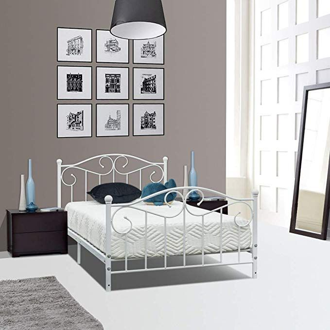 Pin On Bedroom Furniture Twin bed frame with headboard and footboard