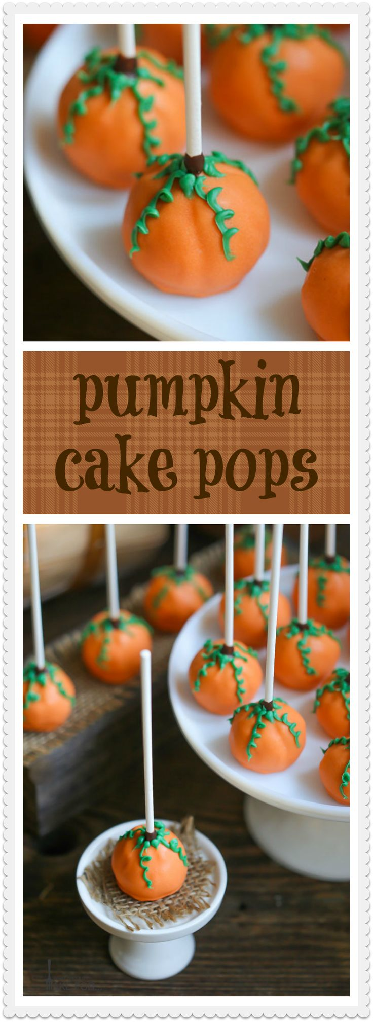 Save yourself a trip to the pumpkin patch! These adorable pumpkin cake pops look…