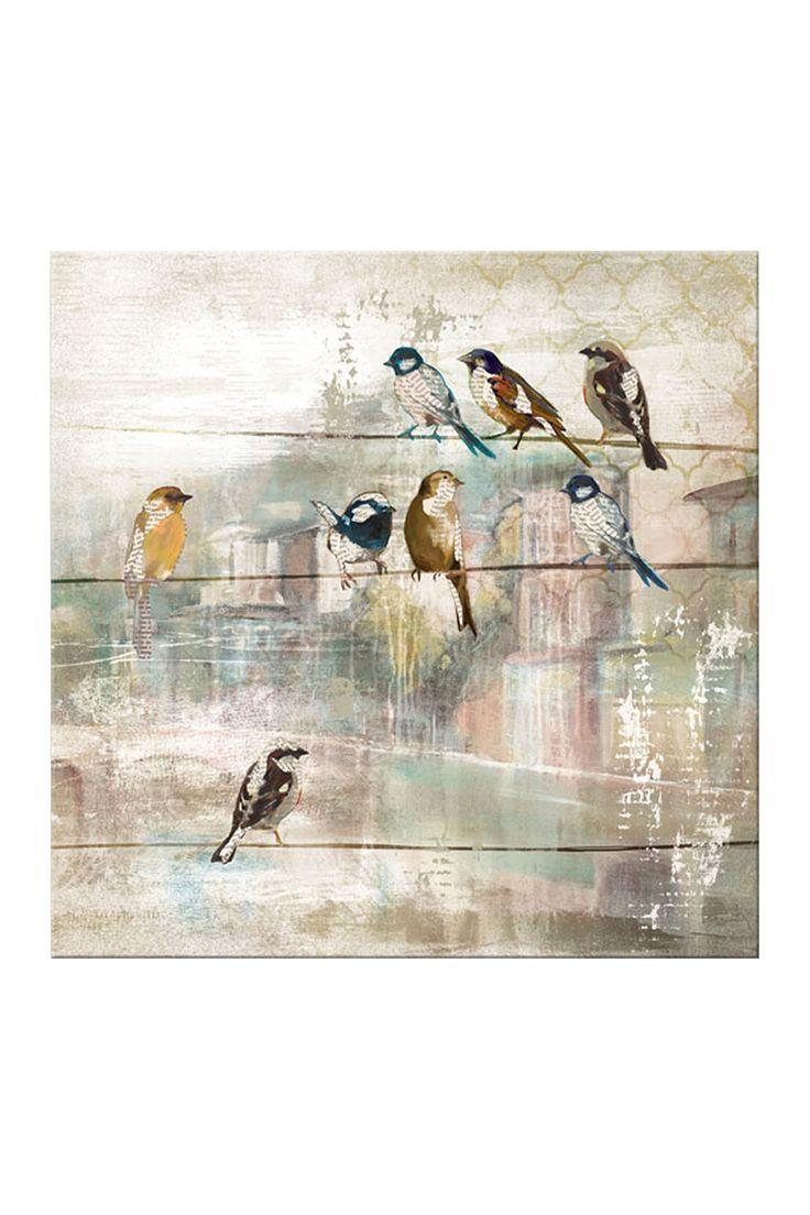 Pretty Birds Canvas Art