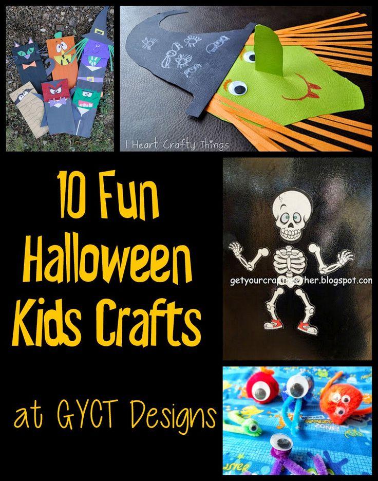 10 Fun Halloween Kids Crafts at GYCT