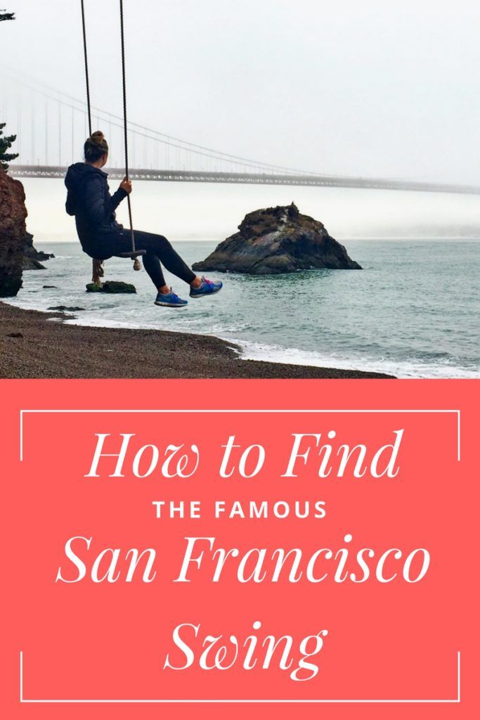 Visiting #sanfrancisco this summer? Looking for an awesome instagram picture? Here's how to find the famous San Francisco Swing at Kirby Cove! - www.TravelingSpud.com