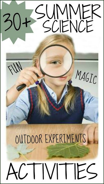 Summer Science Activities and Experiments for Kids!  Lot of FUN ideas to keep them busy this Summer!