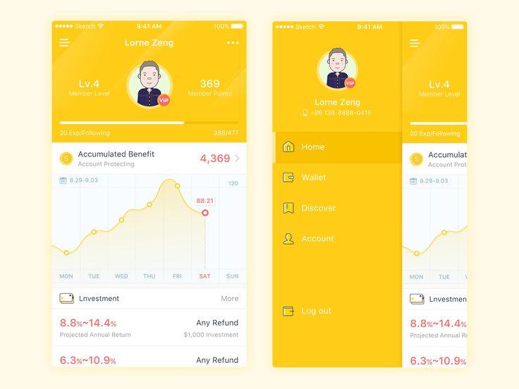 Financial investment App Design – iOSUp