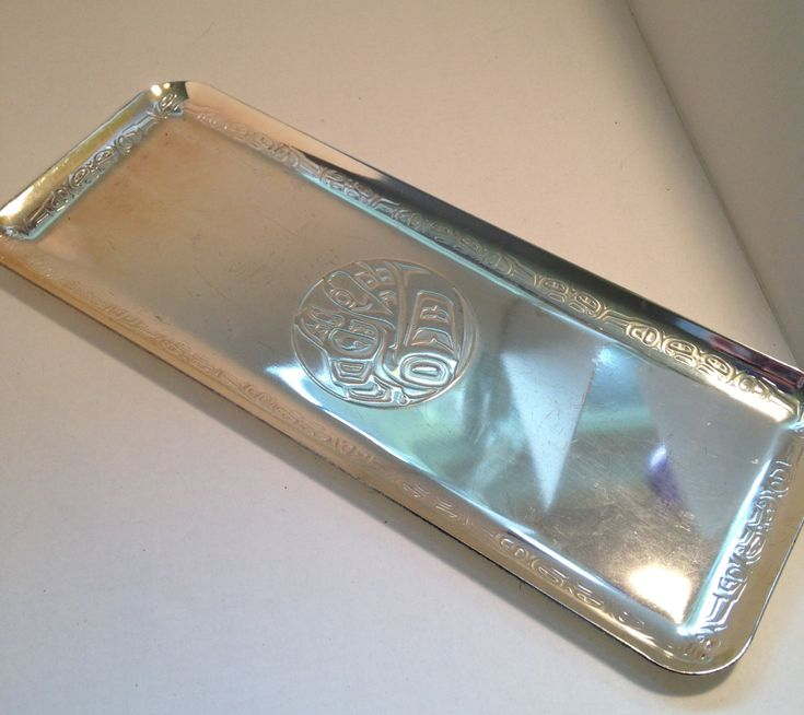 Clarence Wells Eagle silver serving tray Haida Native American Art Canada Art - Rare Find! At Everything Vintage shipping is on us! by EverythingVintageBC on Etsy